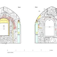 Detailed 'context' recording of chapel, Chateau de Mayenne, France