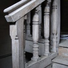 17th-century stair with turned balusters, Sevenoaks, Kent