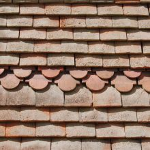 Decorative roof tiling, Wightwick Manor stables, Wolverhampton